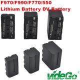 Batterie au lithium Vidego Numérique Batterie DV F970/F990/U65/U90/D54S/D54sh pour caméras broadcast Sony Panasonic Batterie Li-ion v Montez l'or de l'éclairage de montage
