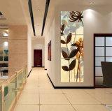ホーム装飾のキャンバスを塗る3つのパネルの壁の芸術の油絵の花は居間Mc256のための映像を印刷する