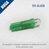 Da lâmpada leve do bulbo da cunha do carro do diodo emissor de luz da boa qualidade da C.C. de T5 1LED 12V auto diodo emissor de luz T5 claro