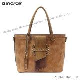 Fachmann ODMspezieller Frosting PU materielle Dame Handbag mit Stift-Dekoration-Schulter-Beutel für breit verwenden reale Fertigung mit guter Qualität