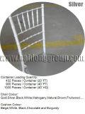 Criquet chinois en bois blanc Chiavari Sillas Tiffany chaises avec coussin doux