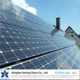 Glace solaire de fer inférieur ultra clair pour la pile solaire