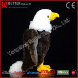 ASTM 살아있는 것 같은 박제 동물 흰머리 독수리 연약한 새 견면 벨벳 장난감