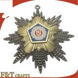 Médaille de récompense d'honneur religieux personnalisée de haute qualité avec des rubans