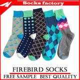 Kundenspezifische Socke mit Firmenzeichen-Mann-Geschäft Argyle Socken-beiläufigen Knöchel-Kleid-Socken