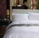 Home and Hotel 100% algodão Soft White Embroidery Boader Bedding Set