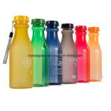 Bouteille d'eau de boisson gazeuse en plastique avec bouchon à vis