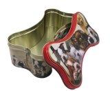 Boîte d'étain de forme d'os, métal de l'emballage des aliments pour animaux de compagnie d'étain, le cas d'étain