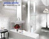 La pierre naturelle hexagone italien Bianco Carrara dalle de marbre blanc/Carrelage/meuble lavabo en marbre haut/comptoir de cuisine