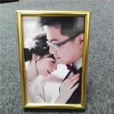 Estrutura metálica de ouro para fotografias de casamento da fábrica de Foshan