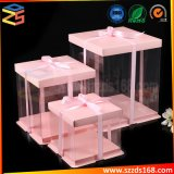 Классический дизайн прозрачный пластиковый высоких свадебный торт в салоне