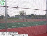 De Omheining van de Link van de Ketting van de Fabriek van de Omheining van Guangzhou voor Tennisbaan