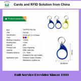125kHz 13.56MHz Em4100 F08 플라스틱 아BS RFID Keyfob (꼬리표 12)