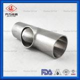 Aço inoxidável sanitárias reduzindo t 90 graus da conexão do tubo soldado