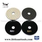 4 pouces Diamond Polishing Pads chamois humide pour la lumière de pierre de couleur