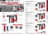 Professional SDS-Plus de 32 mm 1500W 1 Bouton-4 Marteau rotatif de fonctions