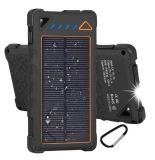 Los ganchos de doble Banco de la Energía Solar diseño colorido 10000mAh cargador solar