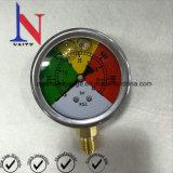 油圧装置のためのスチール・ケースのBourdonの圧力計