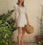Elegantes vestidos de dama hermosa doncella Floral Dress