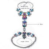 Levering voor doorverkoop van de Juwelen van het Lichaam van Necklace&Pendant van het Kristal van de Ketting van het Lichaam van de luxe de Kleurrijke