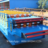 Largura 1220mm do produto da máquina da formação de folha do telhado da camada dobro