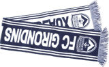 Акриловый связанный шарф клуба дует шарф
