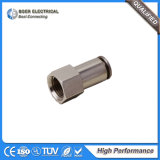 Pneumatisches schnelles Kupplung-selbstsicherndes schnelles passendes Rohr-schnelle Messingverbinder