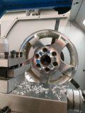 El aluminio de la rueda de coche bordea la máquina del CNC del torno de la reparación para las ruedas Wrm28h de la aleación