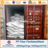 Fibrillated Vezel van het Polypropyleen van de Concrete Versterking van het cement pp