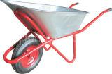 Carrinho de mão de roda chapeado zinco da ferramenta do edifício da bandeja (WB - 5206)