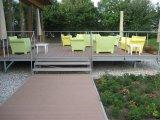 Decking en plastique de composé en bois WPC de plancher extérieur