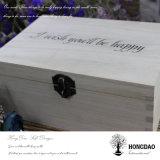 Doos van de Gift van het Hout van de Pijnboom van Hongdao de Met de hand gemaakte