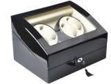 4 + 6 de alta qualidade Black Piano Automatic Wood Watch Winder