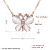 Fsahion nam het Gouden Geplateerde Kristal van de Halsband van de Tegenhanger van de Vorm van de Vlinder met Opalen Halsband toe