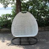 presidenza di alluminio dell'oscillazione del rattan 2-Seats per il giardino/patio/hotel