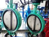 /Borracha Macia/Resilient/Assento substituível a Válvula Borboleta com marcação CE e ISO aprovar