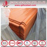 Hojas del material para techos del metal de PPGI prepintadas galvanizadas cubriendo las hojas