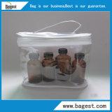 재사용할 수 있는 화장품 PVC 지퍼 부대 플라스틱 포장 부대는 를 위한 구성한다