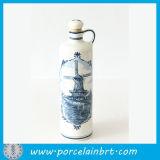 Pequeño vaso de agua de cerámica de vino decorativo fresco perfume botella de bebida reutilizable