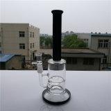 Rauchendes Wasser-Glasrohr mit drei Honig-Kamm-Wasser-Rohr