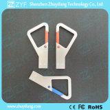 Bastone su ordinazione del USB dell'amo 8GB di Carabiner del triangolo del metallo di marchio (ZYF1735)