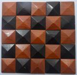 Azulejo de mosaico de madera viejo 2017