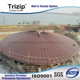 2017 Hot Venda folha metálica do telhado, Titanium-Zinc Folha de revestimentos betumados.