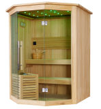 Mini loisir romantique LED Light Dry Wood Sauna (M-6040)