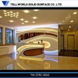 Tw Corian Acrylic moderno mostrador de recepción para Office, Salón de belleza, el Hotel
