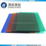 Het Holle Blad van het Polycarbonaat van vier Kleuren door het Maagdelijke Materiaal van 100%