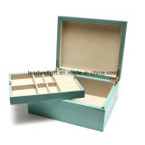Turquoise Wood Jewelry box with High Gloss Finished