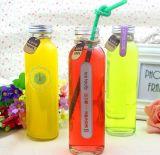 500ml esvaziam a garrafa de água de vidro, recipiente de vidro bebendo, empacotamento de vidro da água