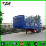 3 assen Vrachtwagen van de Aanhangwagen van de Zijgevel van de Omheining van het Staal van 60 Ton de Semi