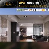 Villa simple à trois chambres de Chambre de structure métallique de lumière de miroir d'étage